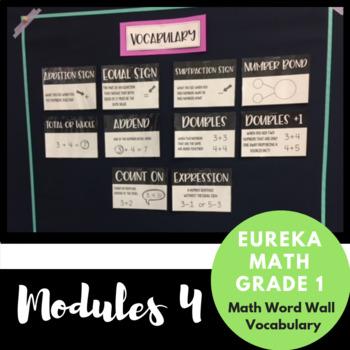 1st Grade Eureka Math Module 4 Vocabulary