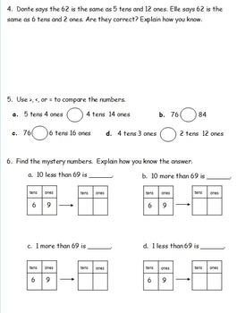 1st Grade Eureka Math Module 6 End of Unit Assessment Practice Tests