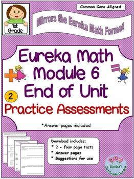 1st Grade Eureka Math Module 6 End of Unit Assessment Prac