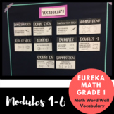 1st Grade Eureka Math Vocabulary Modules 1-6