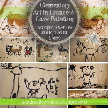 Elementary Art, 1st Grade Europe Art Lesson on Lascaux Cave Painting