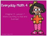 1st Grade - Everyday Math - Lesson 3.7 Flipchart