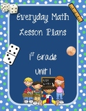 1st Grade Everyday Math Lesson Plans Unit 1