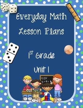 1st Grade Everyday Math Lesson Plans Unit 1