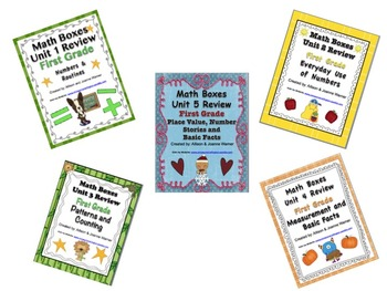 1st Grade Everyday Math Semester Review ~ Units 1-5