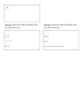 1st Grade, Everyday Math, Unit 6 Practice Test