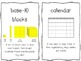 1st Grade Everyday Math Word Wall Words Unit 1 Vocabulary