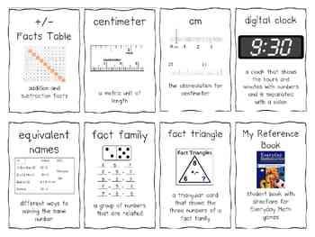 1st Grade Everyday Math Word Wall Words Unit 6 Vocabulary