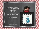 1st Grade Everyday Math Workshop Plans for Unit 3