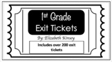 1st Grade Exit Ticket Bundle