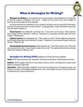 Informational Expository Writing 1st Grade Common Core  Writing Lady