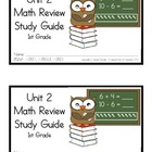 1st Grade Expressions Math: Unit 2 Review Study Guide