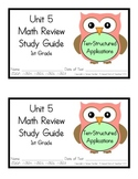 1st Grade Expressions Math: Unit 5 Review Study Guide