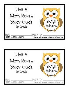 1st Grade Expressions Math: Unit 8 Review Study Guide