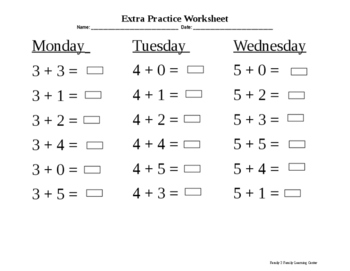 1st Grade Extra Practice Worksheets