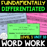 1st Grade FUNdamentally Differentiated Word Work Activities - Level 1, UNIT 10