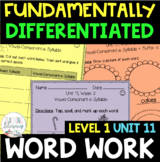 1st Grade FUNdamentally Differentiated Word Work Activities - Level 1, UNIT 11