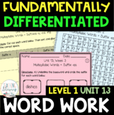 1st Grade FUNdamentally Differentiated Word Work Activitie