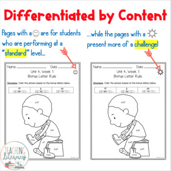 1st Grade FUNdamentally Differentiated Word Work Activities - Level 1, UNIT 4