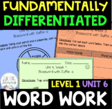 1st Grade FUNDATIONally Differentiated Word Work Activities - Level 1, UNIT 6