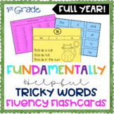 1st Grade FUNdamentally Helpful TRICKY WORDS FLUENCY CARDS