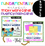 BUNDLE-1st Grade FUNdamentally Helpful Tricky WORD WALL Ca