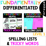 1st Grade FUNdamentally Helpful Tricky Word Cards& DIFFERE