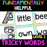 1st Grade FUNdamentally Helpful Tricky Word Cards - Great for a Word Wall!