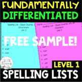 1st Grade FUNdamentally Differentiated Spelling Lists w/Ac