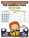 1st Grade Fall Addition Pack