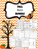 1st Grade Fall Math Printables