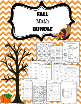 1st Grade Fall Math Printables