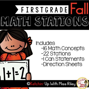 1st Grade Fall Math Stations