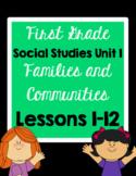 1st Grade Families and Communities Unit 1 Social Studies Lesson Plans