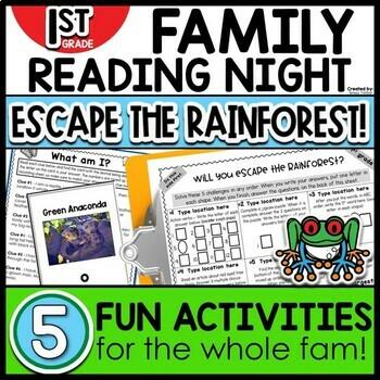 1st Grade Family Night Escape the Rainforest