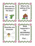 1st Grade Fan and Pick Questions for Characters and Events in LIterature