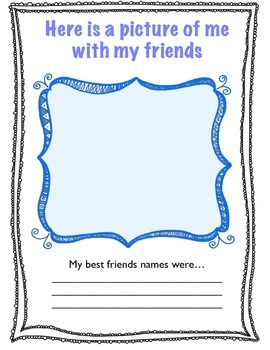 1st Grade Farewell Memory Book
