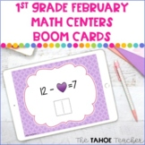 1st Grade February Math Boom Cards | Digital Math Centers