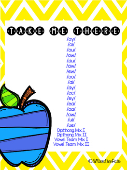    Vowel Team/Dipthong Fill Me In    [long vowel fill in the blanks]