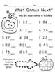 1st Grade Find the Missing Number Worksheets