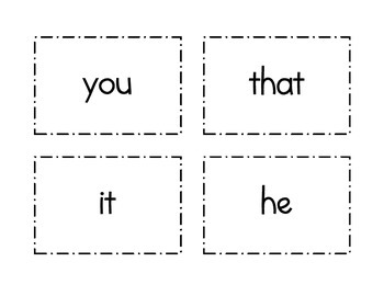 1st Grade Flash Cards