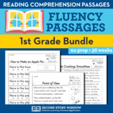 1st Grade Fluency Homework Bundle • Reading Comprehension Passages and Questions