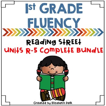 1st Grade Fluency Homework BUNDLE Reading Street