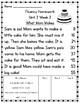 1st Grade Fluency Homework {Reading Street Unit 2}