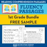 1st Grade Fluency Homework Sampler (FREE) Reading Comprehension