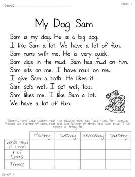 1st Grade Fluency Homework and Practice