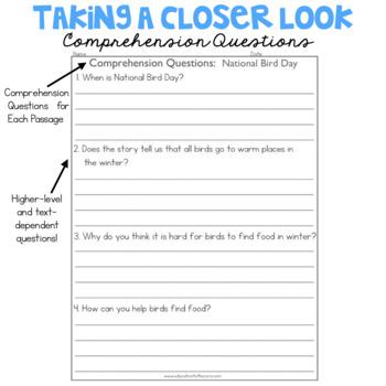 1st Grade Fluency Passages for January