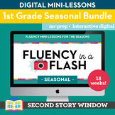 1st Grade Fluency in a Flash SEASONAL GROWING Digital bund