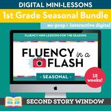 1st Grade Fluency in a Flash SEASONAL GROWING bundle • Digital Mini Lessons