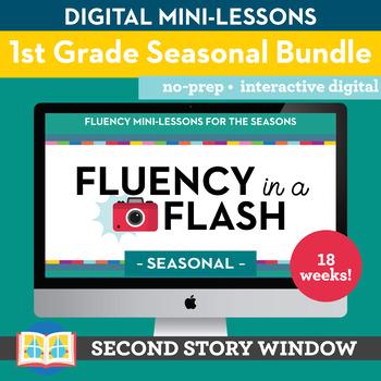 1st Grade Fluency in a Flash SEASONAL bundle • Digital Mini Lessons